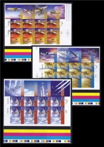 Aviation - Sheets of 10 (IMPERFORATE)